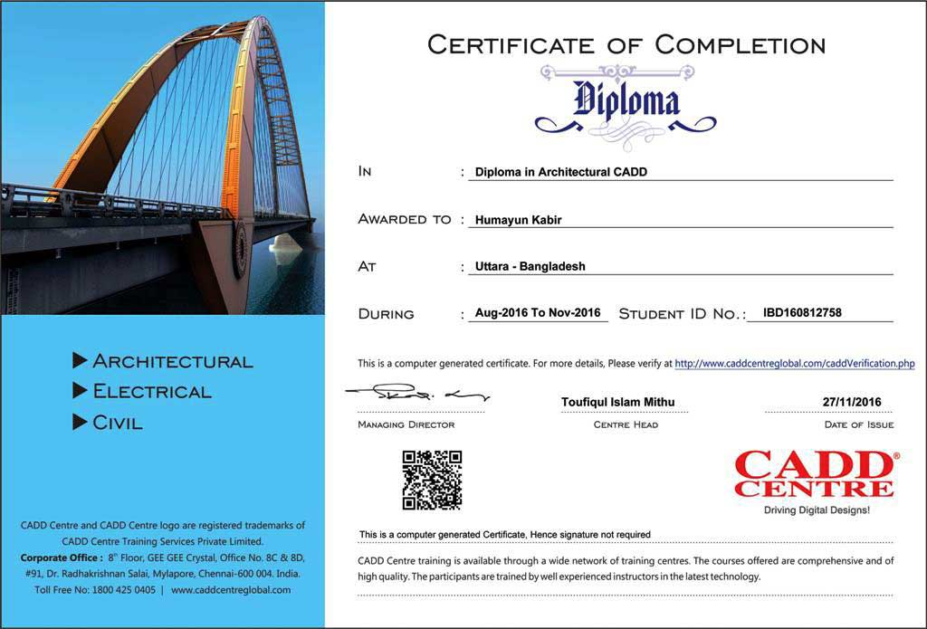 cadd certificates course materials cad training vc column row text